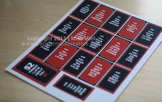 free downloadable templates for the 52 Things I love about You cards