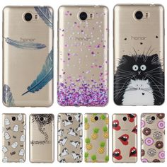 Clear Soft Case sFor Coque Huawei Y5ii Y5 ii Cute Pattern Silicone Cover Phone Cases For Huawei Y6ii Y6 ii Compact Mini