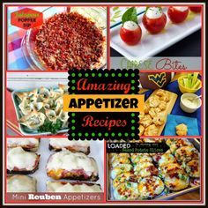 Amazing Appetizer Recipes - now this is perfect for game day!!