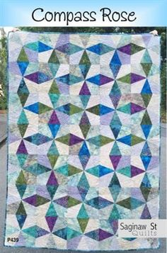 Compass Rose Pattern: Choose your favorite grouping of light and dark colors to create blocks that have stunning contrast! Compass Rose by Saginaw St Quilts is a gorgeous work of art that measures approximately 44 Fabric Shears, Quilt Storage, Scrap, Keepsake Quilting, Shabby Fabrics, Colorful Quilts, Tree Quilt, Compass Rose, Book Quilt