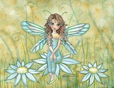 Fairy Art: Carlie the Forest Fae by Artist Molly Harrison