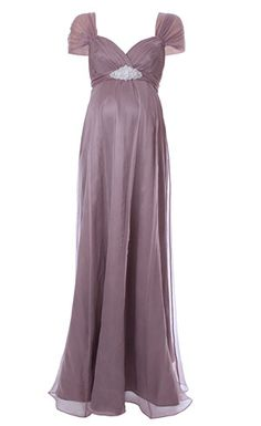 Based on our bestselling Sophia maternity wedding dress, our Silk Sophia in ashen mauve is a brand new colourway for this opulent gown.