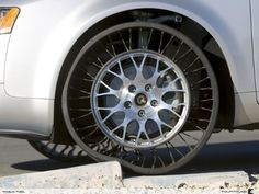 Airless tires! Yes! I want these when they come out... never have to worry about a flat again! :D