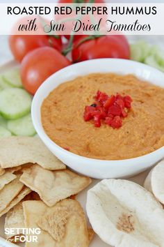 Roasted Red Pepper Hummus with Sun-Dried Tomatoes: Bored with your ...