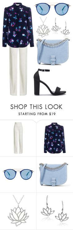 """""""Lotus flowers"""" by musiclover143 ❤ liked on Polyvore featuring Brandon Maxwell, Rebecca Taylor, Oliver Peoples, Little Liffner, Tressa and Journee Collection"""