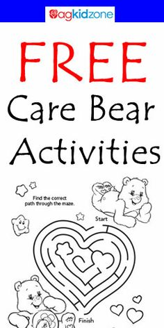 Free Care Bear Activities