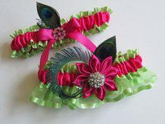 Wedding/Prom Garters Lime Green Garters by NakedOrchidGarters, $59.00