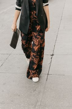 Casual Jumpsuit Layering for Cool Weather - Anne Sage
