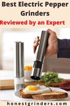 Best Electric Pepper Grinders - Reviewed by an Expert Electric Pepper Grinder, Spice Grinder, Spices, Cooking, Tips, Kitchen, Spice, Brewing