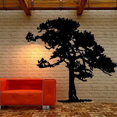 Pine Tree silhouette for home decor