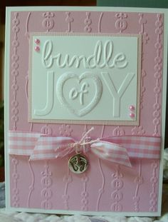 What a wonderful baby girl card!