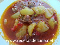 RECETAS DE CASA: Patatas a la riojana o guisos de patatas con chorizo