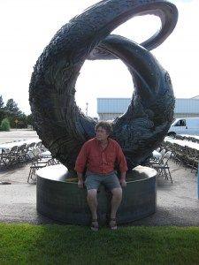 """""""One World, One Water""""  Artist - Rik Sargent (Pictured)  Location - Metro State Campus, Denver"""