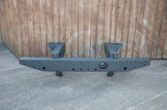 Rear Cross Member and Part Chassis Legs for Land Rover Defender 110 Sprayed With #LINEX   LINE-X North Devon