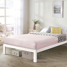 Platform Bed Frame Full, High Bed Frame, White Platform Bed, Steel Bed Frame, Full Bed Frame, Metal Platform Bed, Twin Bed Frames, White Queen Bed Frame, Bed Frames For Sale
