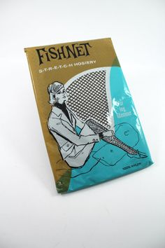 Vintage fishnet stockings from the 1960s - pantyhose, nylons, tights, unopened and never worn!
