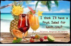 Fruit salad for me!! ♥♥♥ boat drinks jimmy buffett beach life