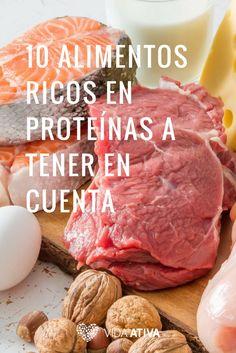 10 alimentos ricos en protéinas a tener en cuenta Beef, Food, Protein Foods, Meat, Essen, Meals, Yemek, Eten