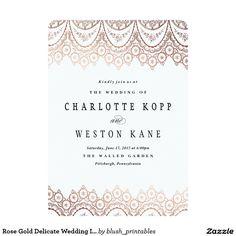 Rose Gold Delicate Wedding Invitation