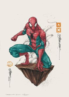Groovy Marvel Character Art Series by Clog Two — GeekTyrant Hq Marvel, Marvel Comics Art, Marvel Comic Universe, Amazing Spiderman, Spiderman Art, Comic Books Art, Comic Art, Heros Comics, Spectacular Spider Man