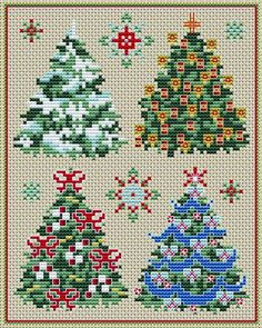 Christmas trees patterns