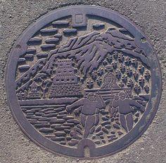 Odawara - Japan.  (Every city has it's own manhole cover design).