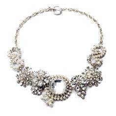 Women's Vintage Statement Necklace Silver Color