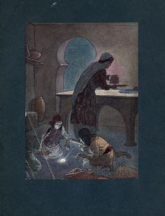 The Arabian nights (1900) Illustrated by Soper  https://ia600502.us.archive.org/BookReader/BookReaderImages.php?zip=/21/items/arabiannights00newyrich/arabiannights00newyrich_jp2.zip&file=arabiannights00newyrich_jp2/arabiannights00newyrich_0219.jp2&scale=2&rotate=0