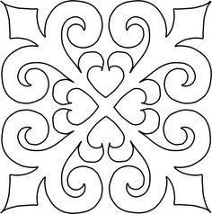Continuous Full Line Quilting Stencils Online – Full Line Stencils - Zeichnung Quilting Stencils, Stencil Patterns, Stencil Art, Stencil Designs, Tile Patterns, Quilting Designs, Embroidery Patterns, Mandala Art, Stencils Online