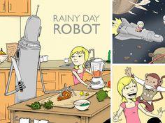 Alison And Her Rainy Day Robot by robotchao, via Kickstarter: Terrific illustrations!  #Childrens_Books #robotchao #kickstarter