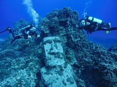Underwater Moai Scuba Diving Things To Do In Easter Island #scubadivingtrippackinglist