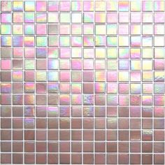 Kaleidoscope ColorGlitz Iridescent Glass Mosaic Tile, sold by the 1.15 s.f. sheet - Premier Pink  $11.95
