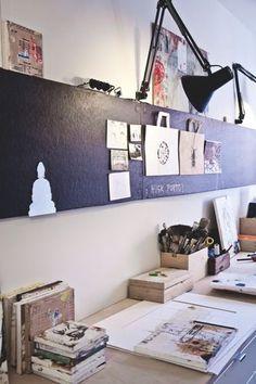 ein magnetischer Tafelstreifen könnte auch schick sein   home.   Pinterest   Work Spaces, Offices and Studio Spaces