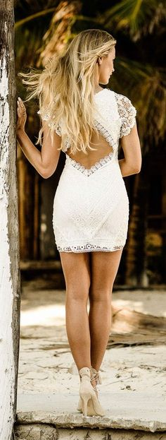 Little White Lace Dress Style