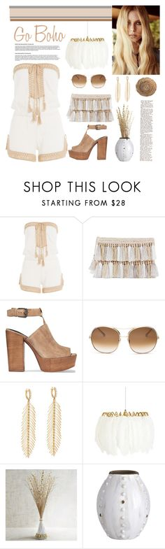 Go boho by bravo1755 on Polyvore featuring Anna Kosturova, Rebecca Minkoff, Sidney Garber, Chloé, Mineheart, House Doctor, Pier 1 Imports and For Love & Lemons