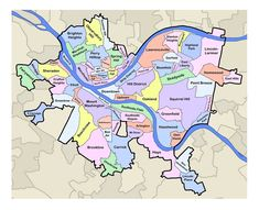 Pittsburgh Map Neighborhoods | ... Showcases Metro Pittsburgh Real Estate - Pittsburgh Neighborhoods