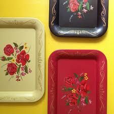 Vintage mini metal trays