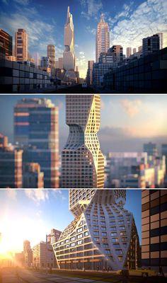 #architecture Organic Architecture, Unique Architecture, Facade Architecture, Interesting Buildings, Amazing Buildings, Modern Buildings, Architectural Technologist, Urban Design Plan, Eco City