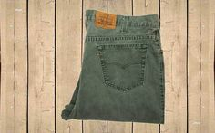 Vintage Levis 540 Jeans USA Made 1990s Mens Relaxed Fit Green Denim Zip Fly Straight Leg W42 L30 by BlackcatsvintageUK on Etsy