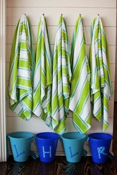 great idea to keep everyones beach gear organized! I am using this at our lake house this summer!