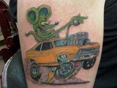 Top Rat Fink Nova Tattoo Tattoo's in Lists for Pinterest