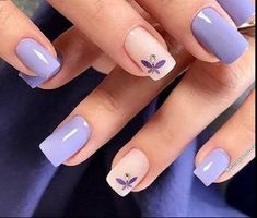 Edgy Nails, Fancy Nails, Trendy Nails, Bright Nails, Purple Nails, Cute Nail Art Designs, Acrylic Nail Designs, Nail Mania, Almond Nails Designs