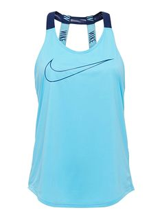 Nike at I.FIV5   A pair of vertical graphic elastic straps over a fully open back   Loose-fitting style in light and breathable jersey   Dri-Fit technology to wick away moisture, keeping you dry   Flat seams for maximum comfort