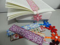 Marcadores de páginas em feltro e tecido