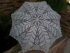 Free Crochet Patterns And Video Tutorials: How To Crochet Umbrella Free Pattern - Diy Crafts Crochet Wedding Dress Pattern, Crochet Bedspread Pattern, Crochet Bikini Pattern, Crochet Blanket Patterns, Crochet Sunflower, Crochet Daisy, Crochet Home, Crochet Flowers, Free Crochet Bag