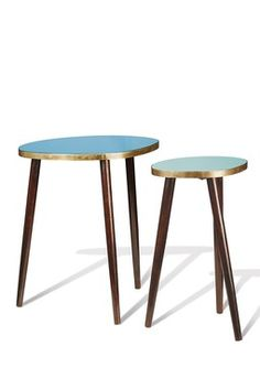 Blue Midtown Side Tables - Set of 2