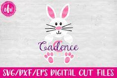 Monogram Bunny - SVG, DXF, EPS Cut File from DesignBundles.net