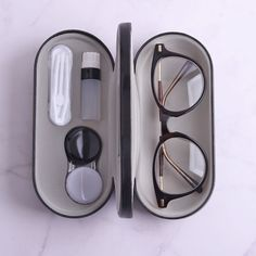 Contact Lenses 2020 – The Best Contact Lenses Ideas Are Here Cute Glasses, Glasses Case, Glasses Frames, Black Caps, Lunette Style, Fashion Eye Glasses, Cosmetic Containers, Cool Things To Buy, Stuff To Buy