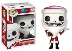 """It's Halloween Town's Pumpkin King himself - Jack Skellington from the classic Christmas movie The Nightmare Before Christmas decked out in his festive Christmas attire! This Funko Pop! Vinyl Figure stands about 3 3/4-inches tall and is stylized in Funko's unique chibi form. <a class=""""pintag searchlink"""" data-query=""""%23nesteduniverse"""" data-type=""""hashtag"""" href=""""/search/?q=%23nesteduniverse&rs=hashtag"""" rel=""""nofollow"""" title=""""#nesteduniverse search Pinterest"""">#nesteduniverse</a>"""