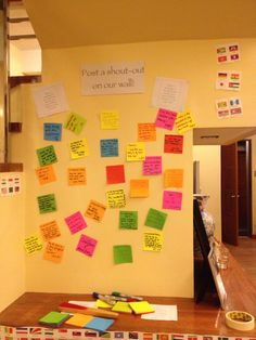 Guest wall with messages